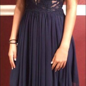 Semi formal dress blue.